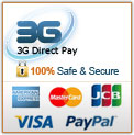 3G Direct Pay + Credit cards logos